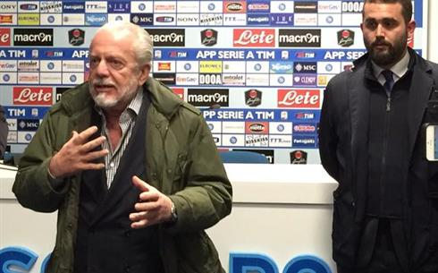 Napoli-Samp, de Laurentiis: «Continuare così. Scontri a Torino? Alfano fa orecchie mercante»